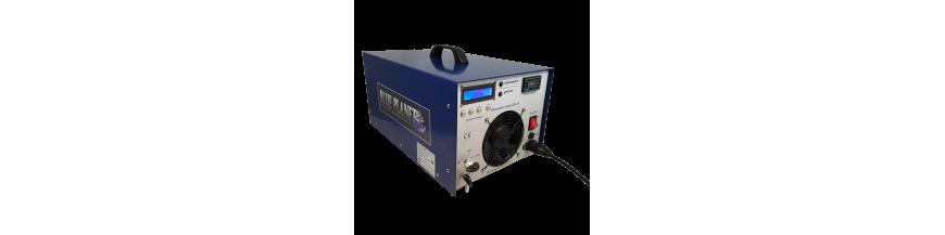 Air powered ozone generators